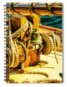 Ships Bell Sailboat Spiral Notebook