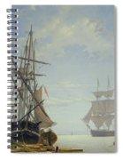 Ships In A Dutch Estuary Spiral Notebook