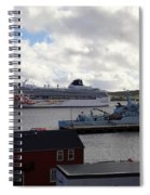 Ships In Lerwick Harbour Spiral Notebook