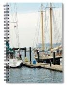 Ships In Newport Harbor Spiral Notebook