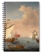 Ships In The Thames Estuary Near Sheerness Spiral Notebook