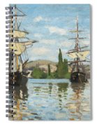 Ships Riding On The Seine At Rouen Spiral Notebook