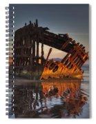 Shipwreck At Sunset Spiral Notebook