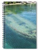 Shipwreck In Big Tub Harbour Spiral Notebook