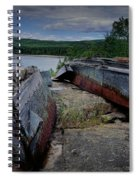 Shipwrecks At Neys Provincial Park No.3 Spiral Notebook