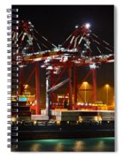 Shipyards  Callao Port Lima Peru Spiral Notebook