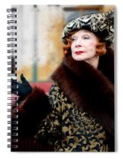 Shirley Maclaine @ Tv Serie Downton Abbey  Spiral Notebook