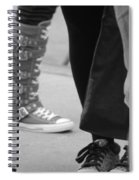 Shoes In Black And White Spiral Notebook