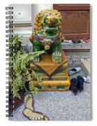 Shoes Outside The Temple Spiral Notebook