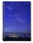 Shooting Star Over Bar Harbor Spiral Notebook
