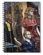 Shop Window Display Of Mannequins Spiral Notebook