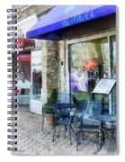Shopfront - Music And Coffee Cafe Spiral Notebook