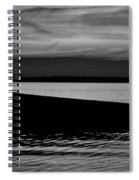Shore Boat Bw Spiral Notebook