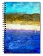 Shoreline Abstract Spiral Notebook