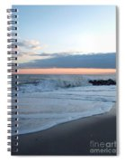 Shoreline  And Waves At Cape May Spiral Notebook