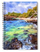 Shoreline At Puako Spiral Notebook
