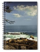 Shoreline View In Acadia National Park Spiral Notebook
