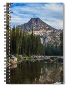 Shoreline View Of Anthony Lake Spiral Notebook