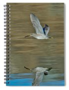 Short-billed Dowitcher And Reflection Spiral Notebook