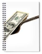 Shovel Of Dollar Spiral Notebook