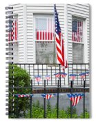 Showing The Flag Usa Spiral Notebook