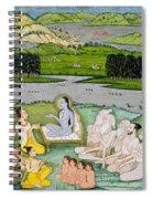 Shri Sukdevji Preaching To A Concourse Spiral Notebook
