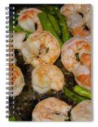 Shrimp And Asparagus Spiral Notebook