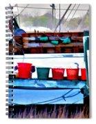 Shrimp Boat Buckets Spiral Notebook
