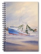 Shrimp Boat On The Gulf Spiral Notebook