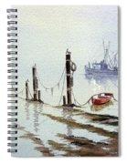 Shrimp Boat With Evening Lights Spiral Notebook
