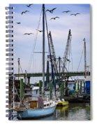 Shrimp Boats At Lazaretto Creek Spiral Notebook