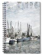 Shrimp Boats Sketch Photo Spiral Notebook