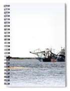 Shrimpers With Pelicans - Waiting On Shore Spiral Notebook