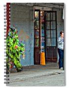 Shrubman On The Move Spiral Notebook
