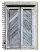 Weathered Wooden Shutters Spiral Notebook