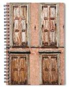 Four Wooden Shutters Spiral Notebook