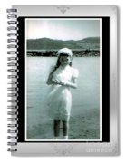 Shy Girl With New Easter Dress Spiral Notebook