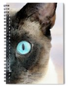 Siamese Cat Art - Half The Story Spiral Notebook