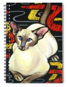 Siamese Cat On A Cushion Spiral Notebook