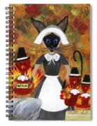 Siamese Queen Of Thanksgiving Spiral Notebook