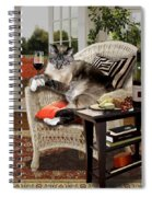 Funny Pet A Wine Bibbing Kitty  Spiral Notebook