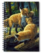 Red Foxes - Sibling Rivalry Spiral Notebook