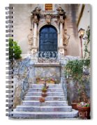 Sicilian Village Steps And Door Spiral Notebook