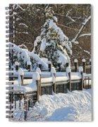 Side Cut Park Winter Wonderland Spiral Notebook