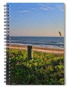 Side Of The Road In Flagler Spiral Notebook