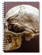 Side Profile View Of Human Skull   Spiral Notebook