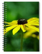 Side View Of A Yellow Flower Spiral Notebook