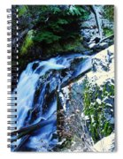Side View Of Bumping Creek Falls Spiral Notebook