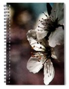 Side View Of White Flowers Spiral Notebook