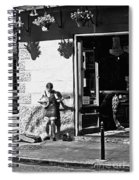 Sidewalk Banjo Plucker In French Quarter Spiral Notebook